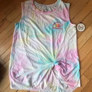 SO Authentic Women's Tank NWT Size SMALL Tie-Dye
